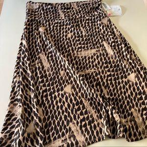 Lularoe Azure Skirt XL NEW Abstract Animal Print